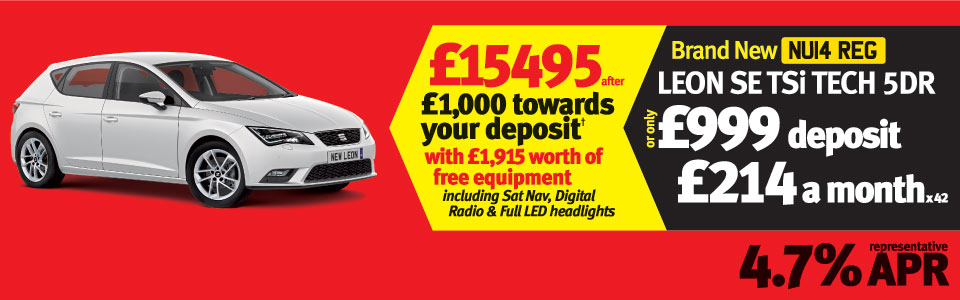 Leon SE TSi Tech 5Dr - £ 999 Deposit and £214 a month