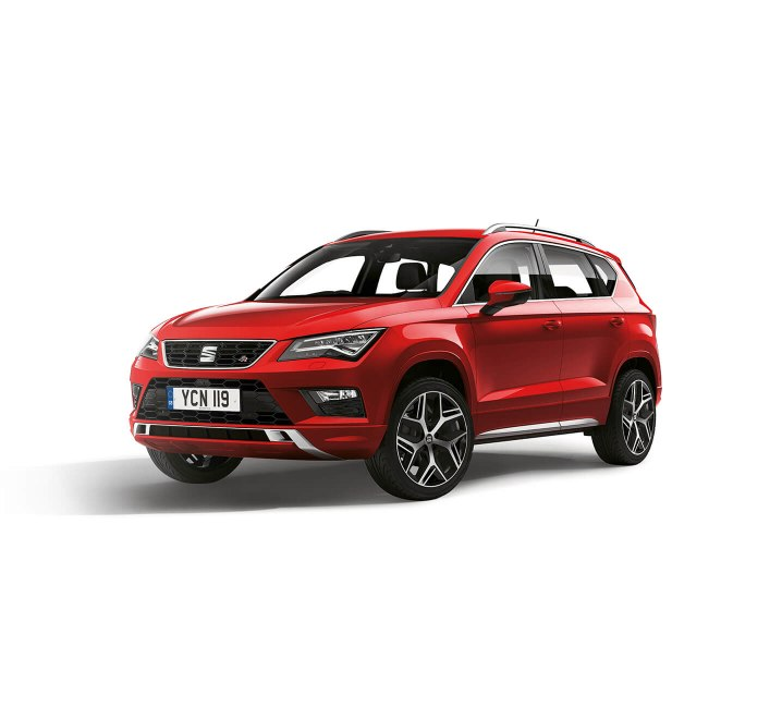 SEAT Ateca - Front view of the car in red