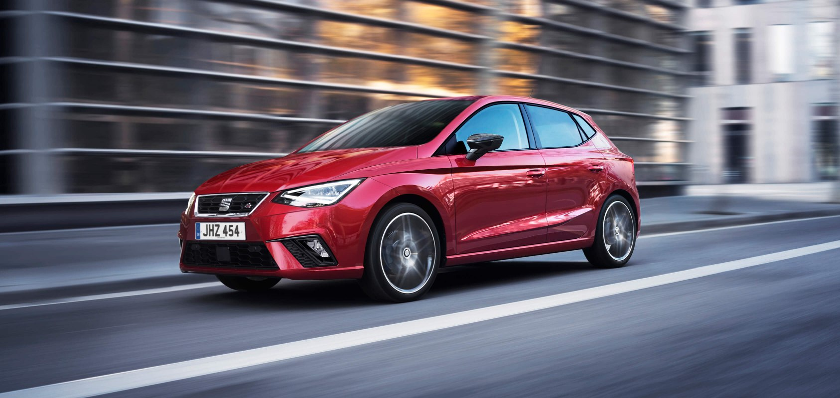 SEAT Ibiza - Front view of the car driving