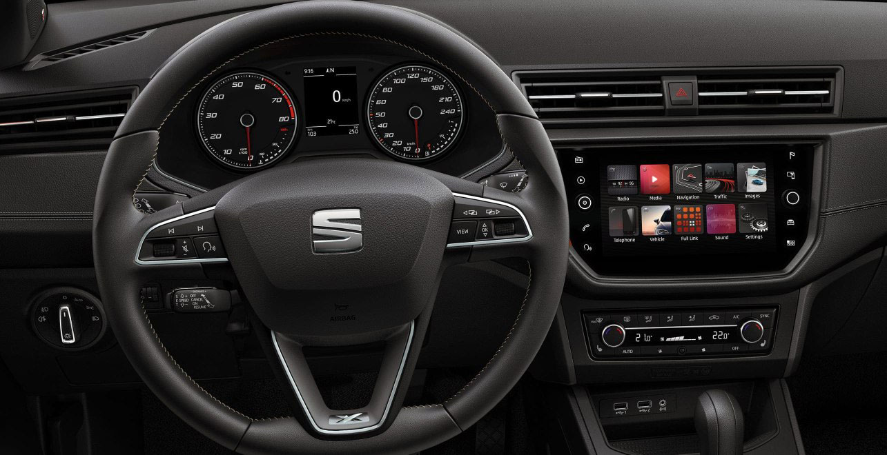 SEAT Ibiza - Steering wheel and navigation system