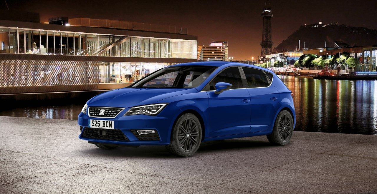 SEAT Leon - Outside view of a blue SEAT Leon